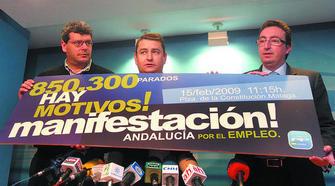 Foto de Antonio Sanz con otros dirigentes del PP en una rueda de prensa el 5 de febrero.
