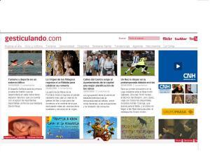 Detalle de la página de inicio de gesticulando.com