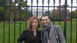Junto a la Casa Blanca con José Luis Acedo. Noviembre'08