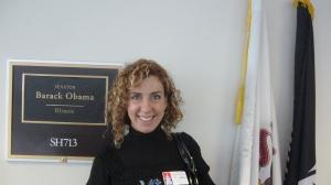 Puerta del despacho de Obama en el Senado de los Estados Unidos